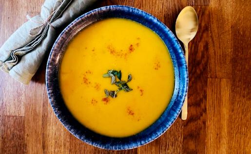 Kürbissuppe auf ayurvedisch