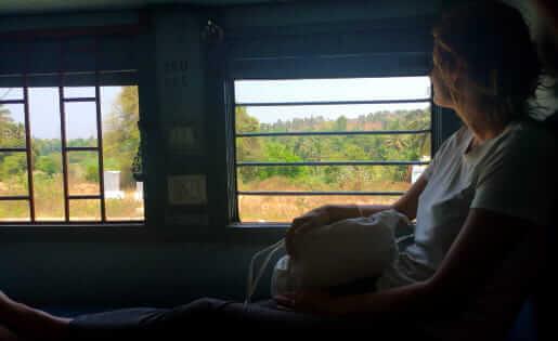 14 Stunden Zugfahrt in Indien