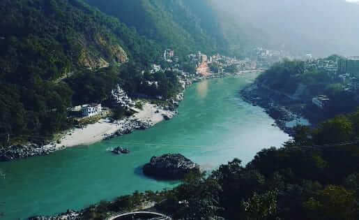 Rishikesh - Blick auf den Ganges