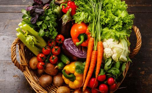 Gesundes frisches Gemüse aus der Ayurveda Küche